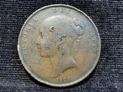 Victoria, Young Head One Penny 1854, Fair, AD514